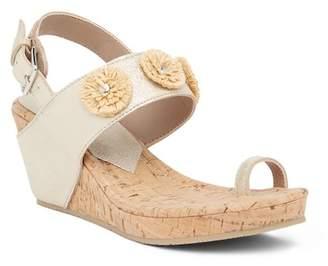 Donald J Pliner Gilly Floral Platform Wedge Sandal