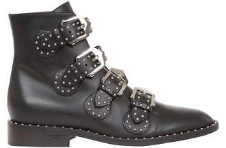 Givenchy Studded Buckled Ankle Boots