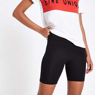 River Island Black high waisted cycling shorts
