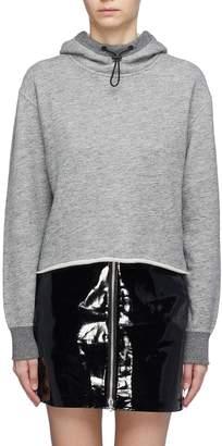 Rag & Bone Raw hem cropped hoodie