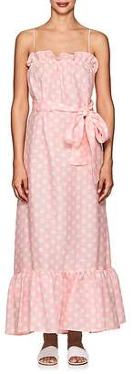 Lisa Marie Fernandez Women's Liz Polka Dot Linen Maxi Dress