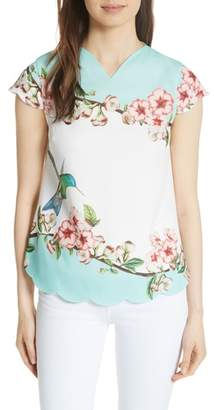 Ted Baker Elmy Nectar Scallop Edge Top