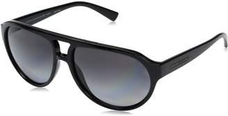 Armani Exchange A|X  Men's Injected Man Polarized Aviator Sunglasses