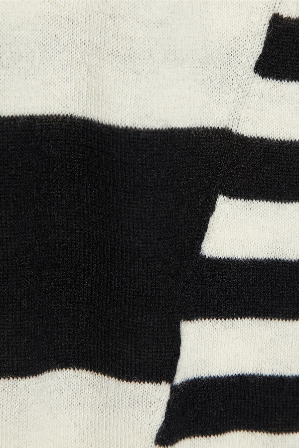Iris & Ink Fine-knit striped cashmere sweater