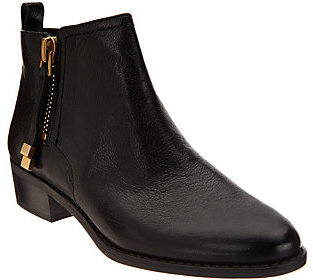 As Is Franco Sarto Leather Ankle Boots w/ Side Zipper - Skylar $63 thestylecure.com