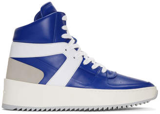 Fear Of God SSENSE Exclusive Blue and White Basketball High-Top Sneakers