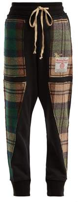 Vivienne Westwood (ヴィヴィアン ウエストウッド) - Vivienne Westwood - X Harris Tweed Organic Cotton Track Pants - Womens - Black