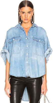 R 13 Patti Oversized Short Sleeve Shirt