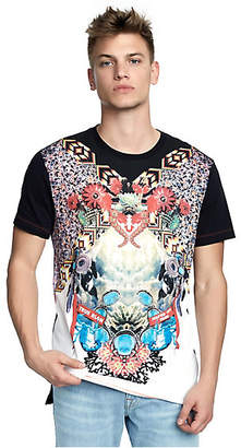 True Religion Mens Desert Oasis Step Hem Graphic Tee