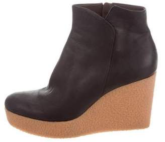 Coclico Leather Platform Ankle Boots