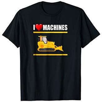 Equipment I Love Machines Heavy Bulldozer T-shirt