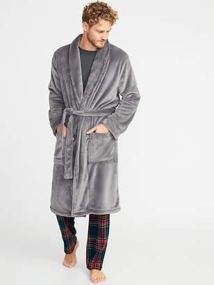 Old Navy Plush Sherpa Tie-Belt Robe for Men