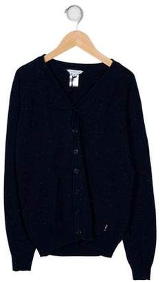 Little Marc Jacobs Kids' Tweed V-Neck Knit Cardigan
