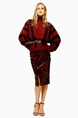Topshop Snake Midi Skirt