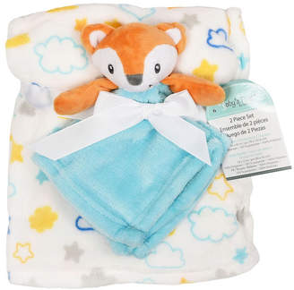 Baby First by Nemcor 2-Piece Blanket Buddy Set, Blue Fox