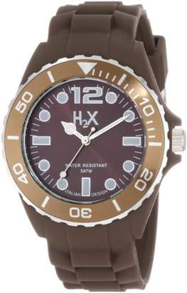 Haurex H2X Men's SM382UM1 Reef Luminous Water Resistant Soft Rubber Watch