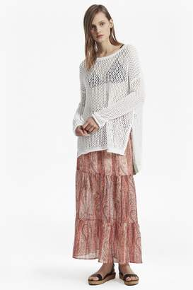French Connection Malika Sheer Paisley Maxi Skirt