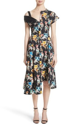 Women's Jason Wu Floral Print Asymmetrical Cotton Dress $1,595 thestylecure.com