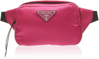 75b968aee130 Prada Leather-Trimmed Nylon Belt Bag