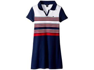 Tommy Hilfiger Yarn-Dye Rib Polo Dress (Big Kids)