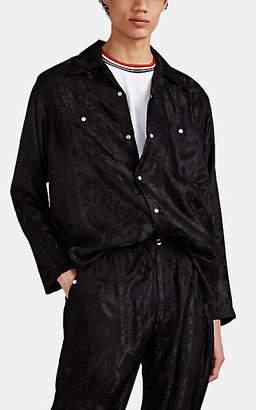 Needles Men's Leaf-Pattern Jacquard Western Shirt - Black