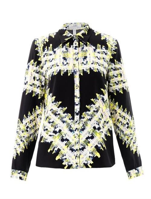 Erdem Cecilia tweed-print blouse