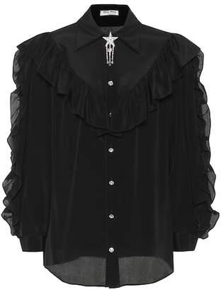 Miu Miu Embellished silk shirt