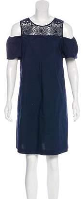 Neiman Marcus Crochet Knee-Length Dress