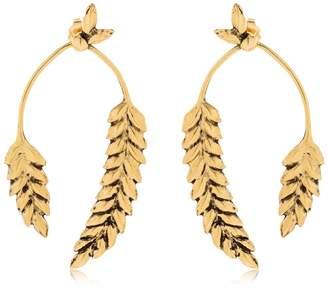 Aurelie Bidermann Wheat Earrings