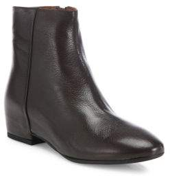 Aquatalia Uri Leather Wedge Booties
