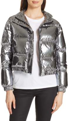 Alice + Olivia Durham Hooded Crop Down Puffer
