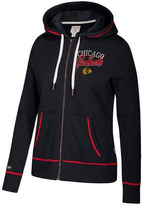 Ccm Women's Chicago Blackhawks Full-Zip Hooded Sweatshirt