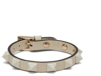 Valentino Rockstud Leather Bracelet - Womens - White