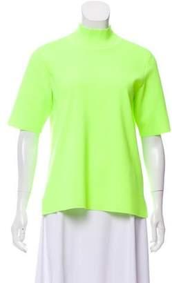 Diane von Furstenberg Neon Short Sleeve Top
