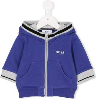 Boss Kids zip-through hoodie