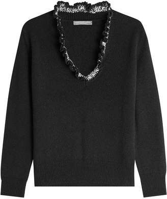 Alexander McQueen Cashmere Pullover with Ruffle
