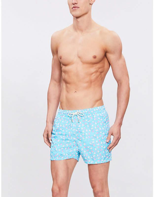 MC2 SAINT BARTH Flamingo-print swim shorts