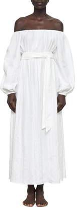 Mara Hoffman Malika Organic Cotton Off the Shoulder Cover-Up Maxi Dress