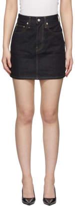 Helmut Lang Indigo Femme Miniskirt