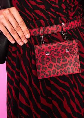 eaf34661603 Missy Empire Missyempire Sophia Red Leopard Print Small Belt Bum Bag
