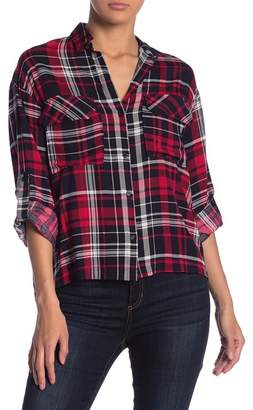 Lush Plaid Boyfriend Shirt