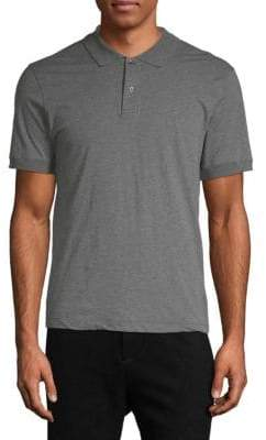 James Perse Cotton-Blend Short-Sleeve Polo