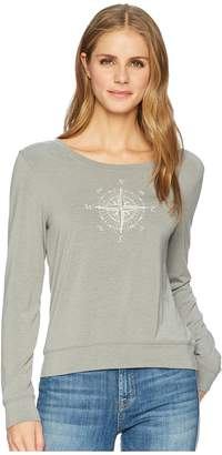 Life is Good Compass Engrave Supreme Scoop Women's Long Sleeve Pullover