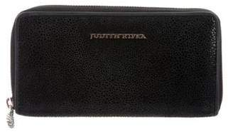 Judith Ripka Embossed Suede Zip Around Wallet