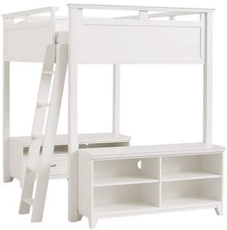 Pottery Barn Teen Hton Loft Bed Set, Full, Simply White