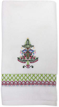 Dena Closeout! Peppermint Twist Embroidered Hand Towel Bedding