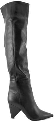Aldo Castagna Black Leather Boots.