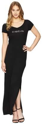 Bebe V-Back Logo Dress Women's Dress