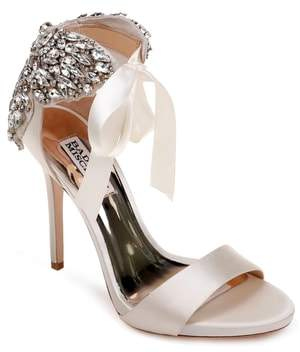 Badgley Mischka Hilda Crystal Embellished Sandal
