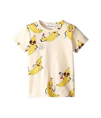 Mini Rodini Banana All Over Print Short Sleeve Tee (Infant/Toddler/Little Kids/Big Kids)